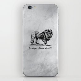 Courage, brave heart - Aslan - Chronicles of Narnia iPhone Skin