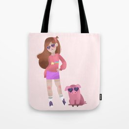 Cool Mabel and Waddles Tote Bag