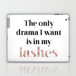 Rose gold beauty - the only drama I want is in my lashes Laptop & iPad Skin