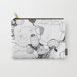 Ghibli-Inspired Collage Carry-All Pouch
