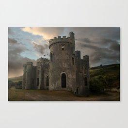 Clifden Castle at the sunset Canvas Print