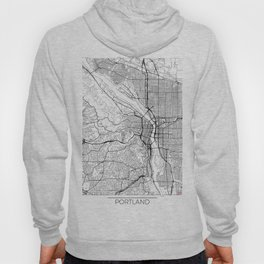 Portland Map White Hoody