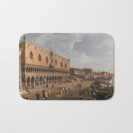 Venice, The Doge's Palace and the Riva degli Schiavoni by Canaletto Bath Mat