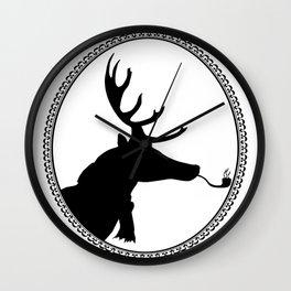 Hipster Deer Wall Clock