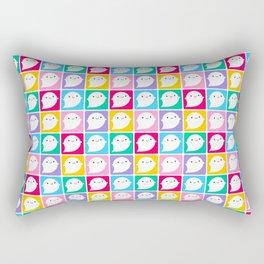Colourful Little Ghosts Rectangular Pillow