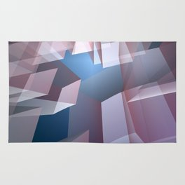 Kissing the sky, geometric fractal abstract Rug