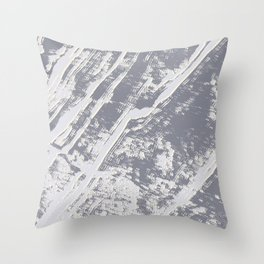 shades of gray marble effect Throw Pillow
