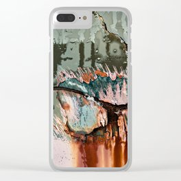 Corrosion Colors I Clear iPhone Case