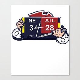 NE 34-ATL 28 Ultimate Comeback Canvas Print