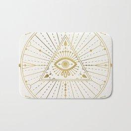 All-Seeing Eye Mandala – Gold Palette Bath Mat