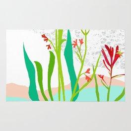 Kangaroo Paw Botanical Illustration Rug