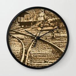 Abandoned Rail Tracks-Wild West Wall Clock