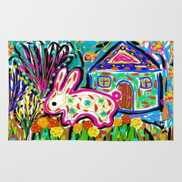 Rabbit and House Rug