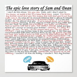 Epic Love Story of Sam and Dean Canvas Print