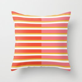 Blush Bright Stripe Throw Pillow