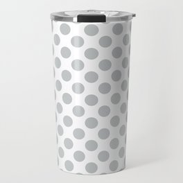 Light Grey Polka Dots Pattern Travel Mug