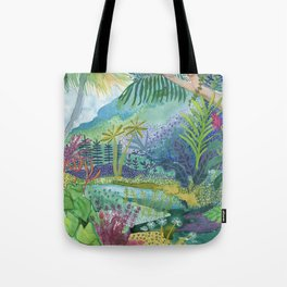 Jungle Paradise Watercolor Tote Bag