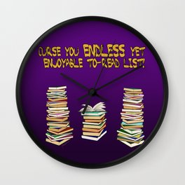 Endless to-read List Wall Clock