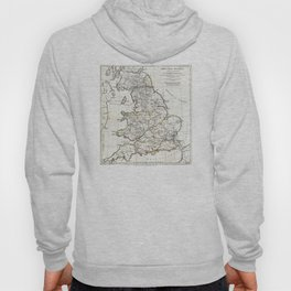Map of England in Ancient Roman times - Horsley - 1794 Hoody