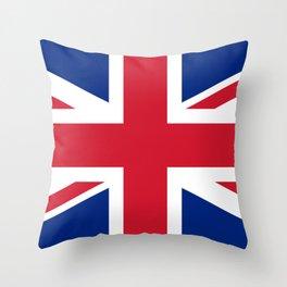United Kingdom: Union Jack Flag Throw Pillow