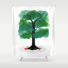 Man & Nature - The Tree of Life Shower Curtain