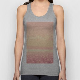 Dreamy Champagne Pink Sparkling Ocean Unisex Tank Top