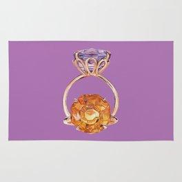 Circles on Purple Rug