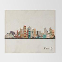 kansas city skyline Throw Blanket