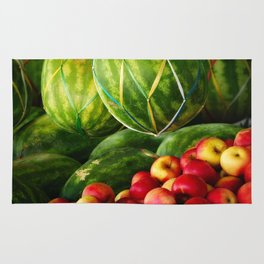 Watermelons and Apples  Rug
