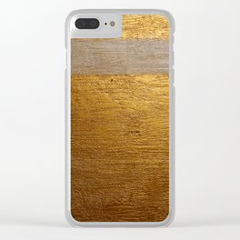 Dariusz Stolarzyn Gold and White Oil Painting Clear iPhone Case