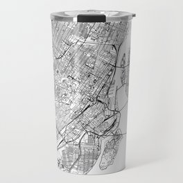 Montreal White Map Travel Mug