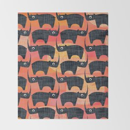 Black Rhino Sunset Throw Blanket