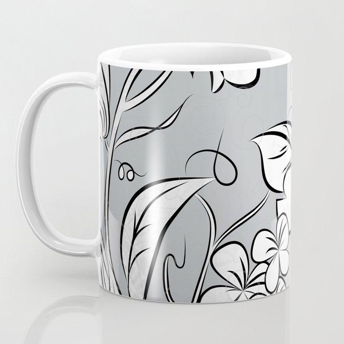 Merry Marsh Marigold - Black and White Coffee Mug