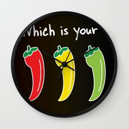 Three Hot Chili Peppers, Which is your? Wall Clock
