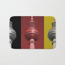 Berlin TV Tower Flag Bath Mat