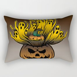 Classic character of ghost and pumpkin Rectangular Pillow
