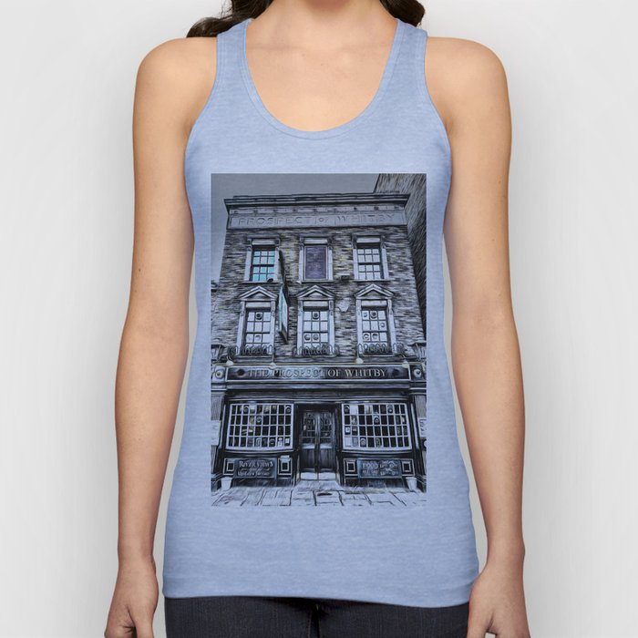 The Prospect Of Whitby Pub Art Unisex Tank Top