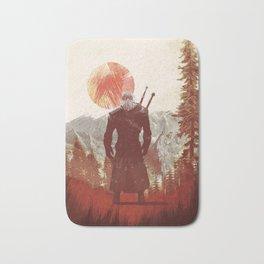 The Witcher Geralt variation print Bath Mat