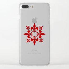 Fleur de Lis pattern Clear iPhone Case