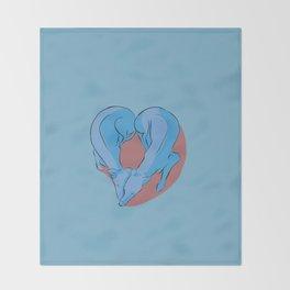 Greyhound Love Throw Blanket