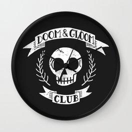 Doom & Gloom Club Wall Clock