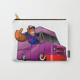 Cartoon illustration of a gorilla driving a van Carry-All Pouch