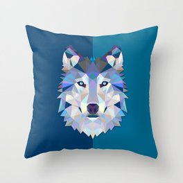 Graphic Wolf Throw Pillow