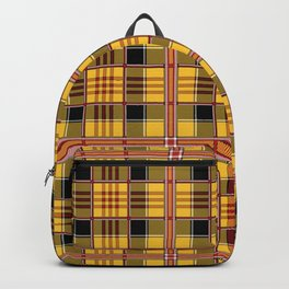Yellow plaid Backpack