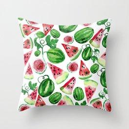 Wild watermelon Throw Pillow