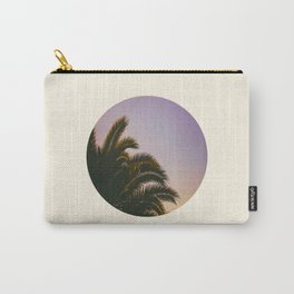 Sunset Purple Palm Tree Circle Photo Carry-All Pouch