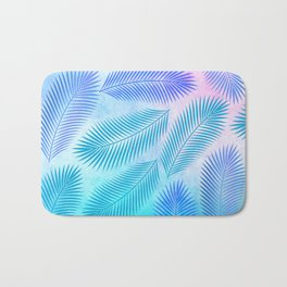 Feathers on Watercolor Background Bath Mat
