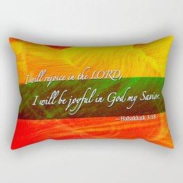 I Will be Joyful! Rectangular Pillow