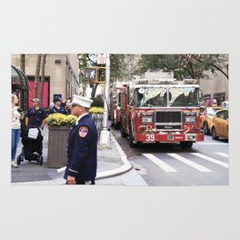 The Fire Dept of New York at 30 Rock Rug