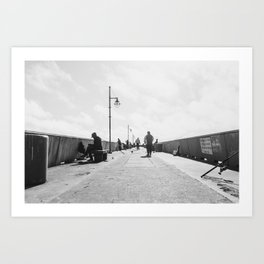 Pier Happenings Art Print